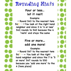 Rounding Poster with hints and examples