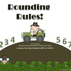 Rounding Powerpoint and Worksheets - Common Core 4.NBT.2 &