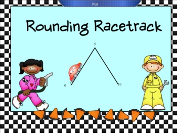 Rounding Racetrack Smartboard Lesson -Rounding Whole Numbers
