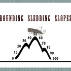Rounding Sledding Slope Smartboard Activity