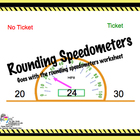 Rounding Speedometer Smartboard Activity - to the nearest 10