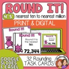 Rounding Task Cards: 32 Cards for Grade 4 (CCS 4.NBT.3)