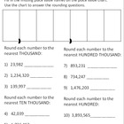 Rounding Whole Numbers Practice Sheet