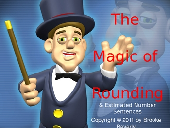 Rounding and Estimated Solutions - Magic Themed Powerpoint