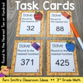 Rounding to the Nearest Ten or Hundred Task Cards and Reco