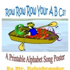 Row Your ABCs Alphabet Poster