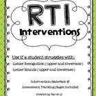 RtI Intervention Unit {Letter & Sound ID}