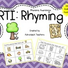 RtI Phonemic Awareness: Rhyming