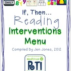 "RtI: Response to Intervention ""If, Then"" Reading Intervent"