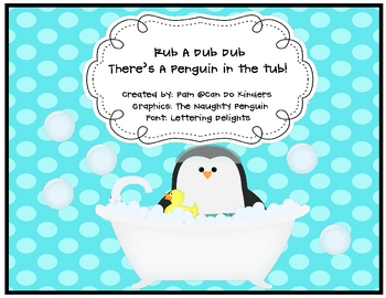 Rub A Dub Dub... There's A Penguin in the Tub Sight Word Game