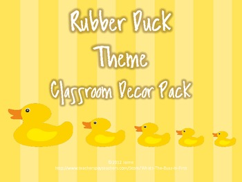 Rubber Duck Classroom Theme Decor Set