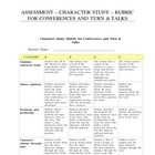 Rubric for Reading Conferences and Turn &amp; Talks - Character Study