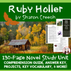 Ruby Holler Reading Comprehension Activity Guide