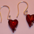 Ruby Red Swarovski Crystal Valentine Earrings