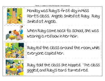 Ruby the Copy Cat - Story Sequence
