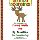 Rudolph Rounding Tiered Math Tub