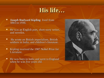 Rudyard Kipling And His Poetry