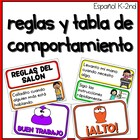 Rules and Behavior chart in Spanish