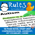 Rules by Cynthia Lord Reading Comprehension Activity Guide