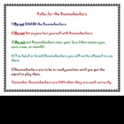 Rules for Boomwhacker Classroom Sign