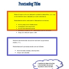 Rules for Punctuating Titles