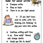 Rules for Quick Writes Poster