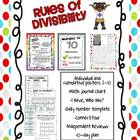 Divisibility Rules Posters and Review Activities