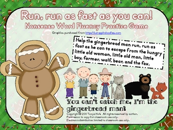 Run, Run As Fast As You Can Gingerbread Man Nonsense Word