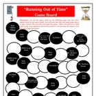 Running Out of Time Game Board: Review Novel Unit Activity