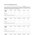 &quot;Running/Nutrition Log&quot; Worksheet