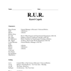 R.U.R. Discussion Questions