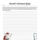 Russell's Magic Christmas Book Writing Activity