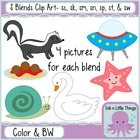 S Blends Clip Art Bundle- sc, sk, sm, sn, sp, st, &amp; sw clipart