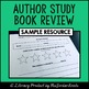 {SAMPLE} Author Study Tic-Tac-Toe Page