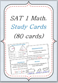 SAT I Math dictionary vocabulary FLASHCARDS 80 cards