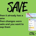 SAVE vs SAVE AS