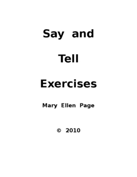 SAY.TELL exercises and activities