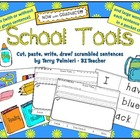 SCHOOL TOOLS ~ Cut, Paste, Write, Draw! Scrambled Sentences