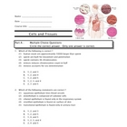 SCIENCE - Cells and Tissues Quiz/TEST and Key
