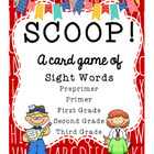 SCOOP! Dolch Words - All 4 Sets - Card Game