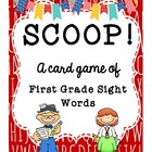 SCOOP! First Grade Dolch Word List Card Game for Beginner Readers