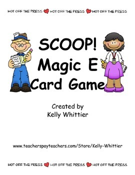 SCOOP! Magic E  and Short Vowel Card Game