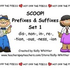 SCOOP! Prefixes and Suffixes Set 1 Card Game