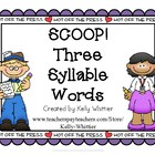 SCOOP! Three Syllable Card Game
