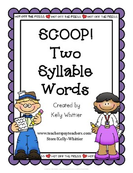 SCOOP! Two Syllable Card Game