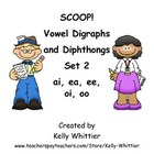 SCOOP! Vowel Digraphs and Diphthongs Set 2 Card Game