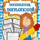SENSATIONAL SENTENCES {NO PREP ACTIVITIES / WORKBOOK}