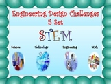 SET 1 of 5 STEM Engineering Design Challenges