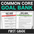 SLP Common Core First Grade Goal Bank