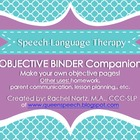 SLP Objective Binder Companion